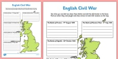 English Civil War Major Battles