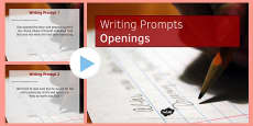 Ten Openings for Writing Prompts