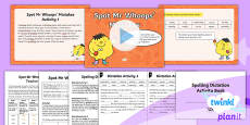PlanIt Y3 Term 1B Assess and Review Spelling Pack