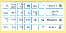 Welcome to our class - Plain Themed Editable Classroom Resource Labels
