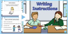 Writing Instructions PowerPoint