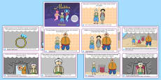 Aladdin Story Sequencing Cards Polish Translation