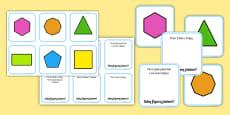 Karty do dopasowania Figury geometryczne