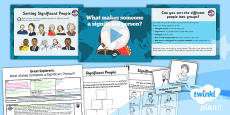 PlanIt - History KS1 - Great Explorers Lesson 1: What Makes Someone a Significant Person? Lesson Pack