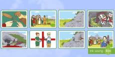 * NEW * Tarjetas de secuenciar de cuento: San Jorge y el dragón