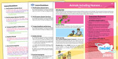 PlanIt - Science Year 6 - Animals Including Humans Planning Overview CfE