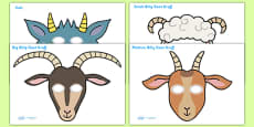 The Three Billy Goats Gruff Story Role Play Masks
