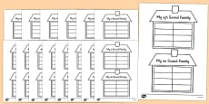 Sound Family House Writing Template