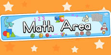 Math Area Sign
