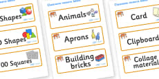 Tiger Themed Editable Classroom Resource Labels