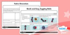 PlanIt - D&T - LKS2 - Juggling Balls Unit: Home Learning Tasks