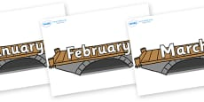 Months of the Year on Bridges