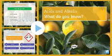 Acids and Alkalis Quiz PowerPoint