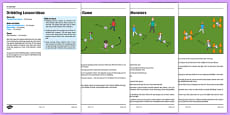 KS1 Football Skills 1 Dribbling Lesson Pack