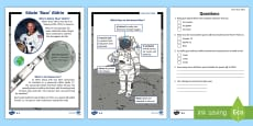 KS1 Edwin 'Buzz' Aldrin Differentiated Reading Comprehension Activity