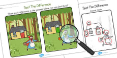 Little Red Riding Hood Spot the Difference Activity