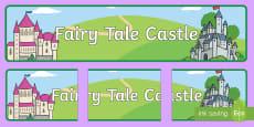 Fairytale Castle Display Banner