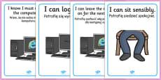 ICT Area Rules Posters Polish Translation
