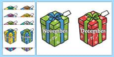 Months on Birthday Presents Urdu Translation