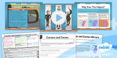 PlanIt - Science Year 3 - Scientists and Inventors Lesson 5: Concave and Convex Lesson Pack