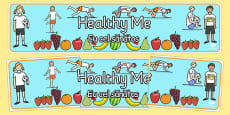 Healthy Me Display Banner Romanian Translation