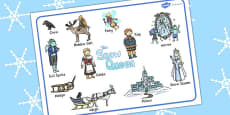 The Snow Queen Word Mat