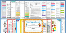 EYFS Superhero Themed Adult Input Planning and Resource Pack