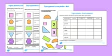 Properties of 2D Shapes Activity Sheets Polish