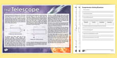 Telescope Differentiated Comprehension Activity