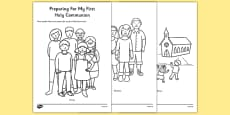 Preparing for First Holy Communion Colouring Sheet