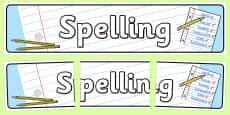 Spelling Display Banner