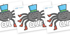 Phase 3 Phonemes on Spiders