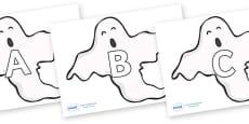 A-Z Alphabet on Ghosts (Plain)