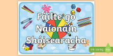 Welcome to Junior Infants Display Poster Gaeilge
