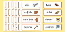 Builders Yard Role Play Labels