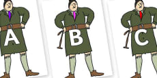 A-Z Alphabet on Mrs Trunchbull to Support Teaching on Matilda