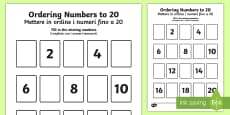 Missing Numbers to 20 Ordering Activity English/Italian