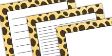 Cheetah Pattern Portrait Page Border