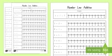 Addition Up to 12 and 20 Number Line Activity Sheet