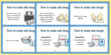 Salt Dough Recipe A4 Display Posters