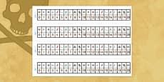 Pirates Number Track (1-20)