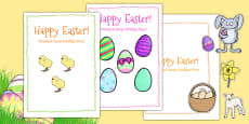Easter Card Templates large Polish Translation