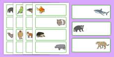 Editable Drawer - Peg - Name Labels (Animals)