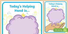 Today's Helping Hand Is Poster