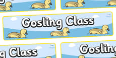 Gosling Themed Classroom Display Banner