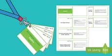 Lanyard Sized Year Six Algebra Objectives Cards