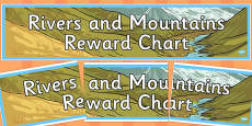 Rivers and Mountains Reward Chart Display Banner