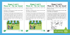 Northern Ireland Linguistic Phonics Stage 5 and 6 Phase 3a, 'aw' Sound Activity Sheet