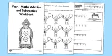 Year 1 Maths Addition and Subtraction Workbook