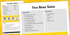 Recipe Card Five Bean Salsa